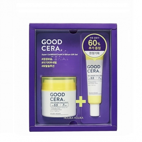 Holika Holika Good Cera Super Ceramide in Serum Zestaw nawilżający krem i serum z ceramidami 50ml + 30m